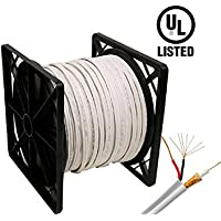 Siamese Cable UL Listed RG59 Siamese 500 Ft. Coaxial CCTV Cable 20 AWG Solid Copper RG59 + 18/2 18AWG Power