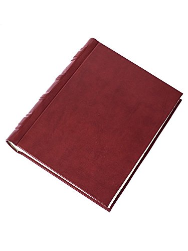 Burgandy leather photo album by Cozzi Legatoria