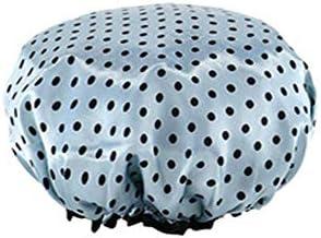CQIANG シャワーキャップ、レディースシャワーキャップレディース用のすべての髪の長さと太さのデラックスシャワーキャップ - 防水とカビ防止、再利用可能なシャワーキャップ。 (Color : Blue)