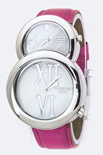 Karmas Canvas Roman Number Dual Timezone Watch - Online Prada To Buy Where