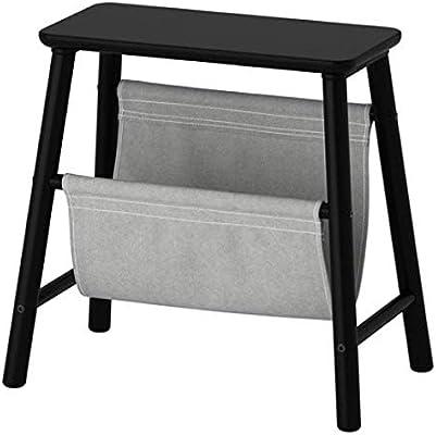 IKEA 803.587.50 Vilto - Taburete de almacenamiento (40 cm, tamaño 17 3/4 pulgadas), color negro: Amazon.es: Hogar
