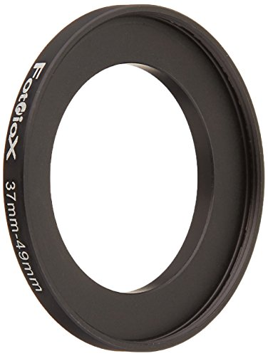 Fotodiox Metal Step Up Ring Filter Adapter, Anodized Black Aluminum 37mm-49mm, 37-49 mm
