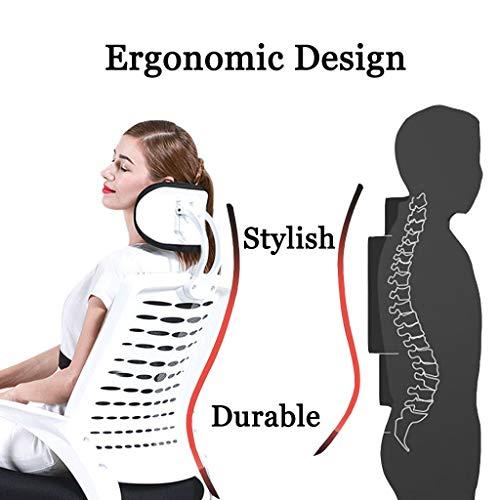 Svängbar stol hem kontor stol verkställande hög rygg datorstol elastisk nätstol lyftbord med andningsbart tyg ergonomiskt snygg sovrumsmöbler, svart, 49 x 52 x 121 cm
