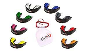 Redline Sportswear Mouthguard w/ Vented Case - Protection For All Contact Sports (Blue & Black)
