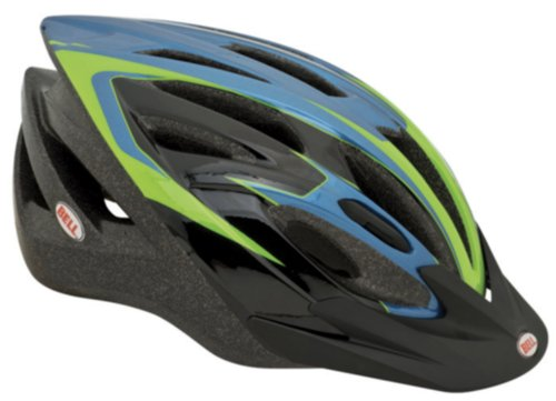 Bell Adult Quake Helmet, Blue/Green
