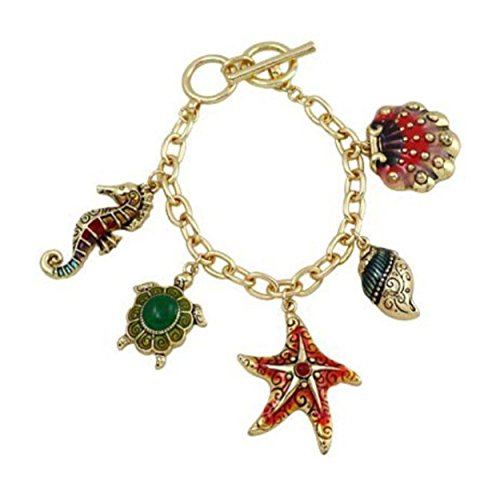 sea-life-charm-bracelet-seahorse-starfish-sea-turtle-conch-clam-shell-2-charms-large-celebrity-look