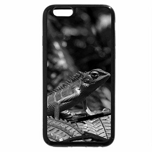 iPhone 6S Plus Case, iPhone 6 Plus Case (Black & White) - Green Lizard from Sri Lanka