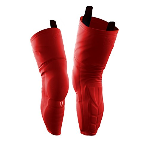 Vital Nation KPS600 Protective Kevlar Hockey Socks (Youth, Red)