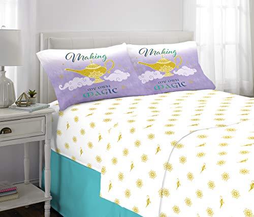 Franco Kids Bedding Super Soft Microfiber Sheet Set, 4 Piece Full Size, Disney Aladdin