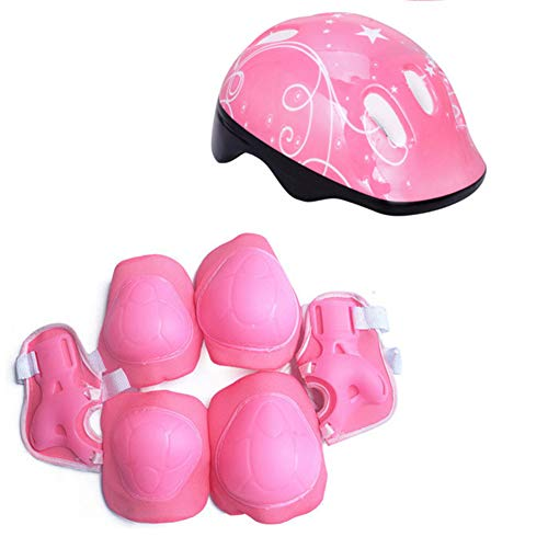 Provone Child Safety Equipment 7 Pieces Outdoor Sports Protective Gear Set Boys Girls Cycling for Roller Scooter Skateboard Bike(PK)