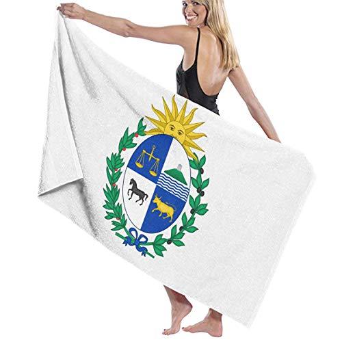 一貫したオーガニック延ばすビーチバスタオル バスタオル ウルグアイ国旗の紋章 ビーチバスタオル 海水浴 旅行用タオル 多用途 おしゃれ White