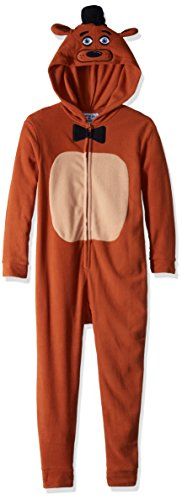 Five Nights At Freddy's Big Boys Freddy Fazbear Pajamas Costume Licensed (Small)