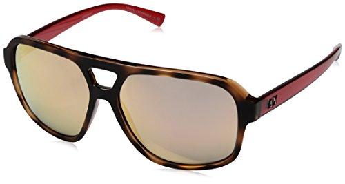 Armani Exchange Men's Injected Man Non-Polarized Iridium Square Sunglasses, Transparent Champagne/Top Matte Havana, 59 - Sunglasses 2017 Top Mens