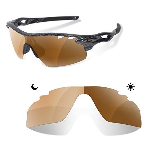 c5876957030b5 Sunglasses Restorer Lentes Polarizadas Fotocromáticas Marrones para Oakley  Radar Path Vented ( 30% al 70% )  Amazon.es  Ropa y accesorios