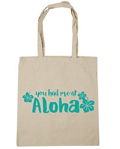 Gym HippoWarehouse x38cm Had 42cm Me You Bag Tote Beach Natural litres 10 Aloha Shopping At 1pgZU1nq