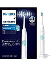 Philips Sonicare ProtectiveClean 4100 Electric Rechargeable Toothbrush, Plaque Control, White