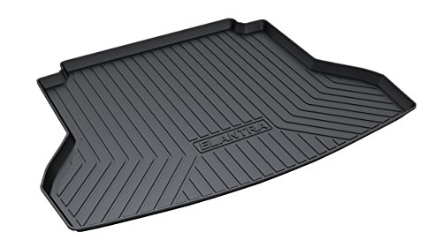 Vesul Rubber Rear Trunk Cover Cargo Liner Trunk Tray Floor Mat Fits on Hyundai Elantra Sedan 2017 2018 ()