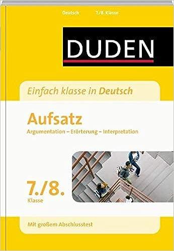 Duden Einfach Klasse In Deutsch Aufsatz 78 Klasse