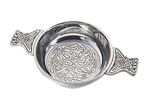 (Wentworth Pewter - Celtic Circle Pewter Quaich Whisky Tasting Bowl Loving Cup Burns Night)
