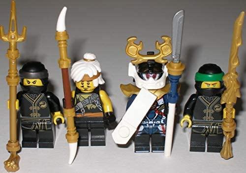 Juego de 4 Figuras Ninjago de Maestro Wu Verde Ninja Lloyd ...