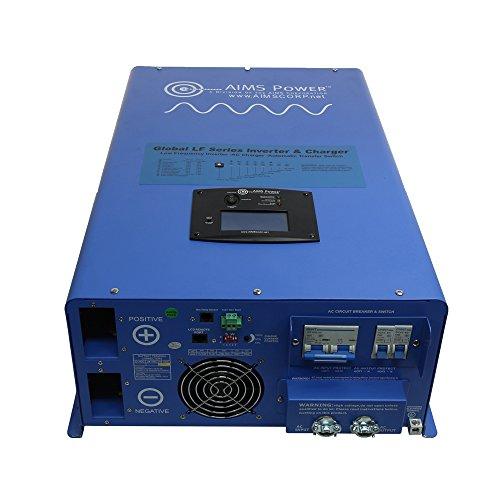 AIMS Power PICOGLF10KW48V240VS 10000W Pure Sine Inverter Charger (48 volt to 120/240 volt) (Aims Split Phase Inverter compare prices)