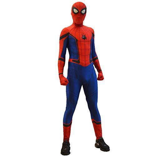 Civil War Spiderman Costume Spider-Man Suit for Kids and Adults Cosplay Civil War Spider-Man Movie Best Halloween Costume (Kids-S) -