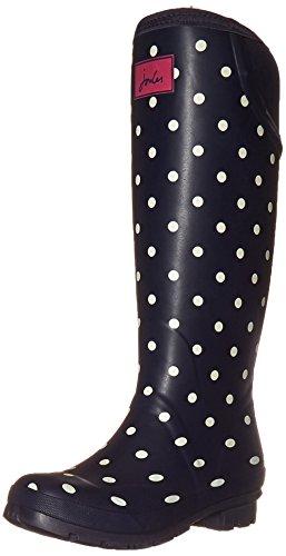 Joules Donna Neola Rain Boot Navy Spot White