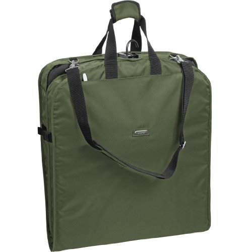 WallyBags 42 Inch Shoulder Strap Garment Bag, Olive, One Siz