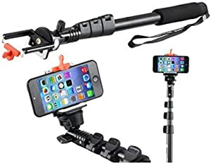Heavy Duty Aluminium Self Portrait Selfie Handheld Stick Monopod Rod For iPhone 5S Samsung Galaxy S5