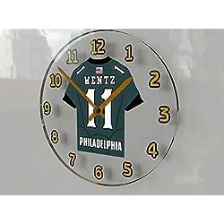 FanPlastic Carson Wentz 11 Philadelphia Eagles Wall Clock - National Football League Legends Edition !!