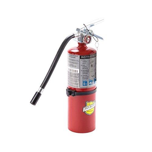 Buckeye 25614 ABC Multipurpose Dry Chemical Hand Held Fire Extinguisher with Aluminum Valve and Vehicle Bracket, 5 lbs Agent Capacity ()