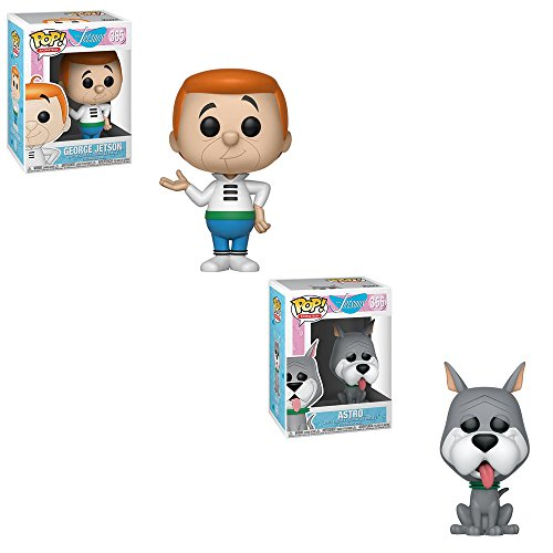 Funko POP! Animation The Jetsons: George Jetson and Astro Dog Toy Action Figure - 2 POP BUNDLE ()
