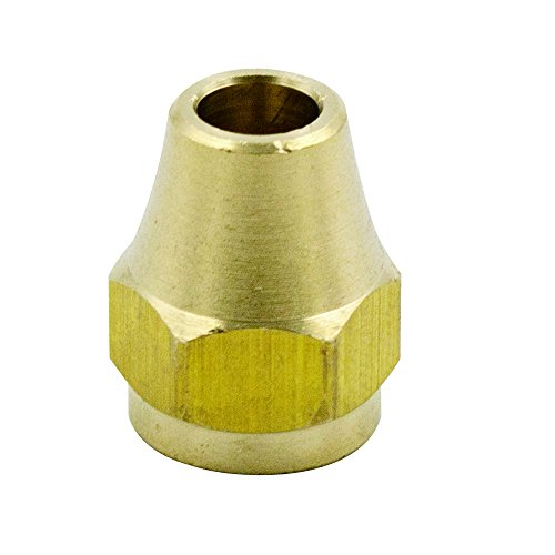 (Legines Brass Tube Fitting, SAE 45 Degree Flare, Short Flare Nut (3/16