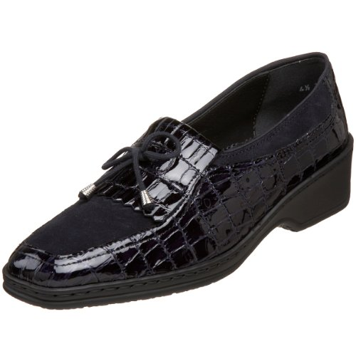 Slip Womens Rachel Navy ara Croco Loafer Indigo Pearlized On Ozwd7E7q