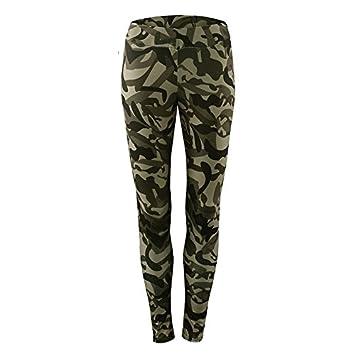 MAYUAN520 Patchwork Camuflaje Deporte Leggings Mujeres ...