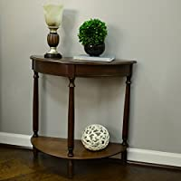 Décor Therapy FR1478 Half Round Console Table, 28.25' x 11.8' x 28.25', Walnut