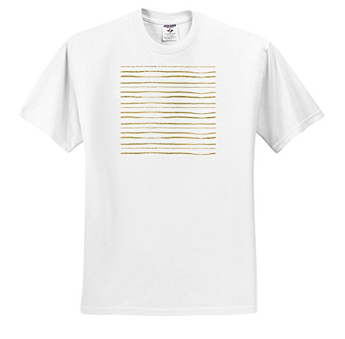 ugh - Hand Painted - Digital Faux Gold and White Hand Painted Stripes - T-Shirts - Youth T-Shirt Large(14-16) (TS_263586_14) ()