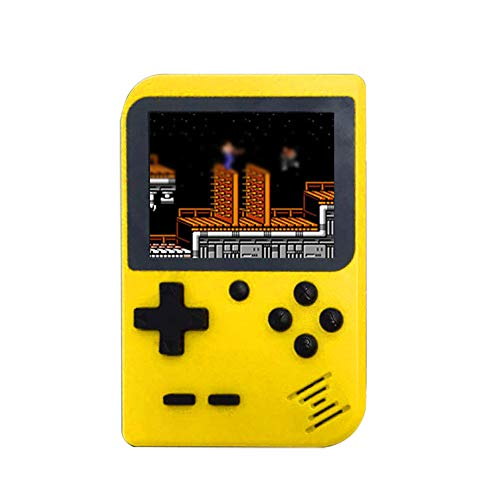 Cywulin Retro Mini Handheld Video Game Console Player Gameboy Built-in 168 Classic Games Travel Portable Gaming System Electronics Machines 2.8 Inch Support TV Play Present for Boy Kids Adult (Yellow)