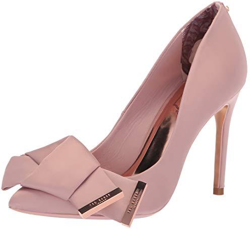 Ted Baker Women's INES Pump Pink Satin 10 Medium US (Shoes Designer Pink)