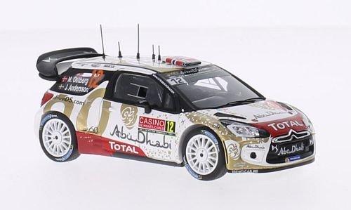 Citroen DS3 WRC, No.12, Citroen Total Abu Dhabi WRT, Total, Rallye Monte-Carlo, 2015, Modellauto, Fertigmodell, Spark 1:43