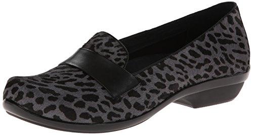 Dansko Women's Oksana Flat,Grey Cheetah Hair Calf,38 EU/7.5-8 M (Cheetah Footwear)
