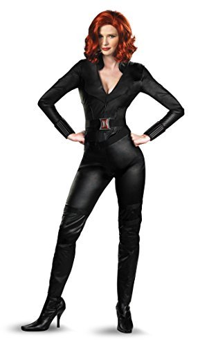Disguise Marvel's Avengers Movie Black Widow Avengers Deluxe Adult Costume, Black, (Avengers Costumes For Adults)