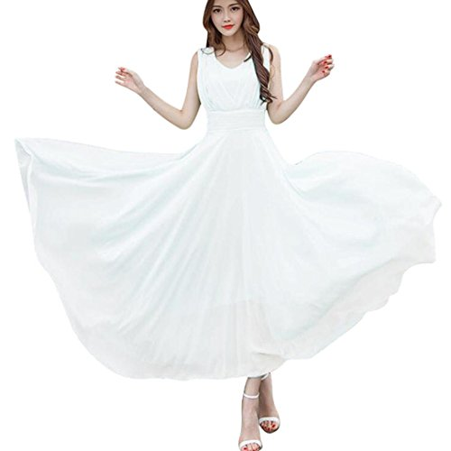 Janly Kleid Frau Maxi Chiffon Ball Lange Kleid Damen Brautjungfer ...
