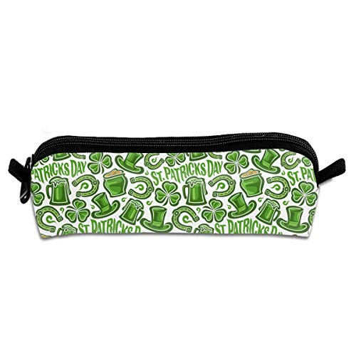 TPSXXY St. Patrick's Day Hat Horseshoe Shamrock Cute Students Pencil Case Pen Pouch Stationary Work Office Craft Supplies