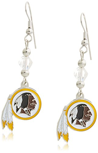 Siskiyou NFL Washington Redskins Crystal Dangle Earrings ()