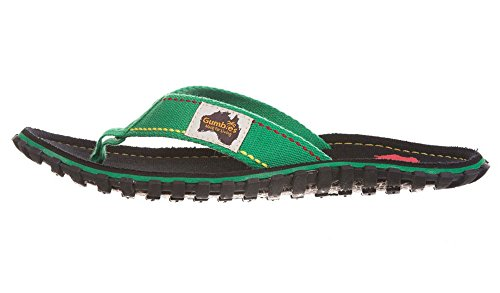 Gumbies Flip Manly Islander Red Canvas Unisex Flops Rasta rzqHwSrxB