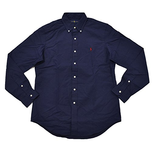 RALPH LAUREN Long Sleeve Classic Fit Mens Shirt  Windsor Navy  L Boys Ralph Lauren Button