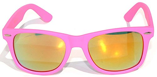Vintage Lens Sunglasses Retro 80's Matte Pink Frame for Ladies ()