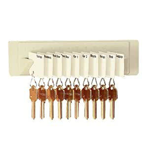 STEELMASTER Wall Mount Key Rack for 10 Keys, 8 x 2.25 Inches, Sand (201401003)