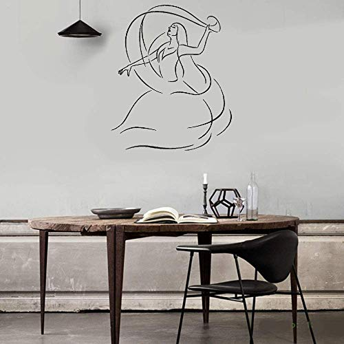 Lettering Words Wall Mural DIY Removable Sticker Decoration Beautiful Girl Dance School Dancer Woman